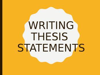 7 Thesis Statement Examples - Templatenet